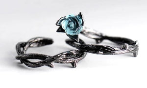 The Enchanted Rose Couple Rings