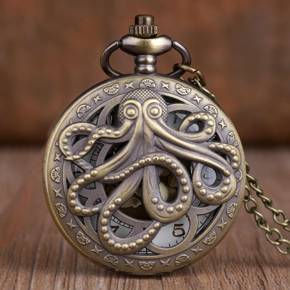 Steampunk Kraken Pocket Watch - Wyvern's Hoard