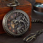 Immortal Phoenix Mechanical Pocket Watch - Wyvern's Hoard