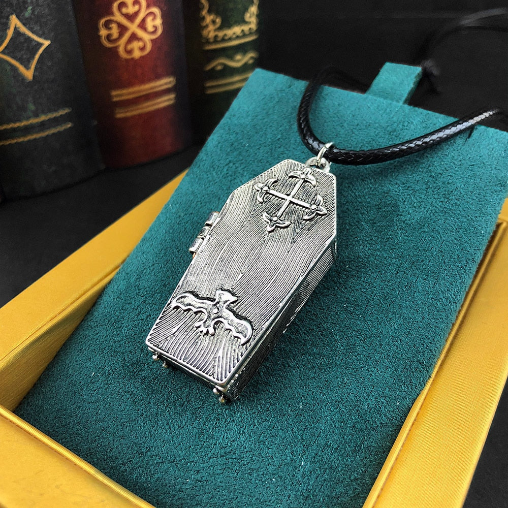 Ancient Skeleton's Casket Necklace