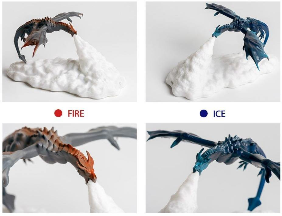 Dragon Fire LED Lamps - Wyvern's Hoard