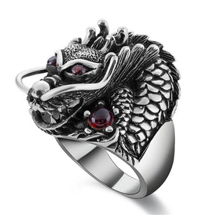 The Underworld Guardian Dragon Stainless Steel Ring