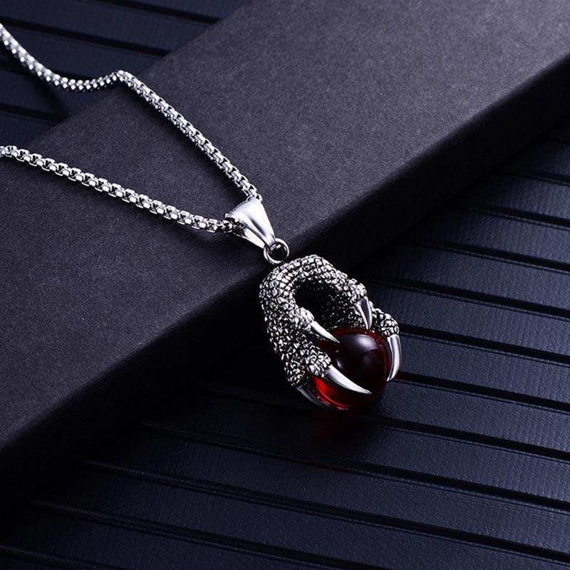 The Dragon's Gem Claw Necklace