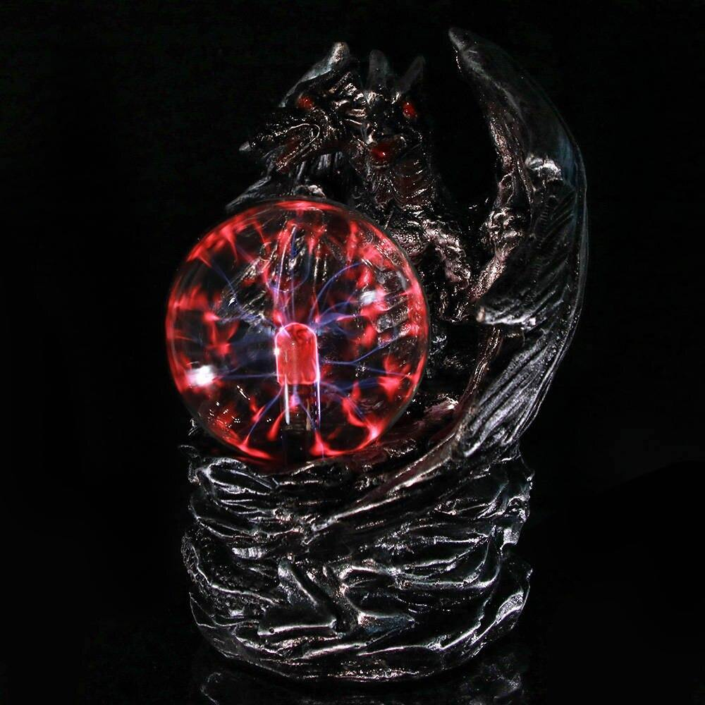 Double Headed Dragon Plasma Ball Figurine