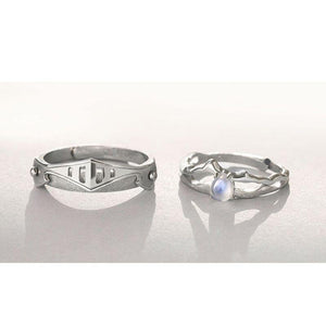 The Princess & Her Knight Couple Rings