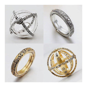 Armillary Astrological Sphere Ring