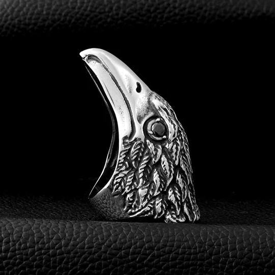 Raven's Head Ring - Wyvern's Hoard