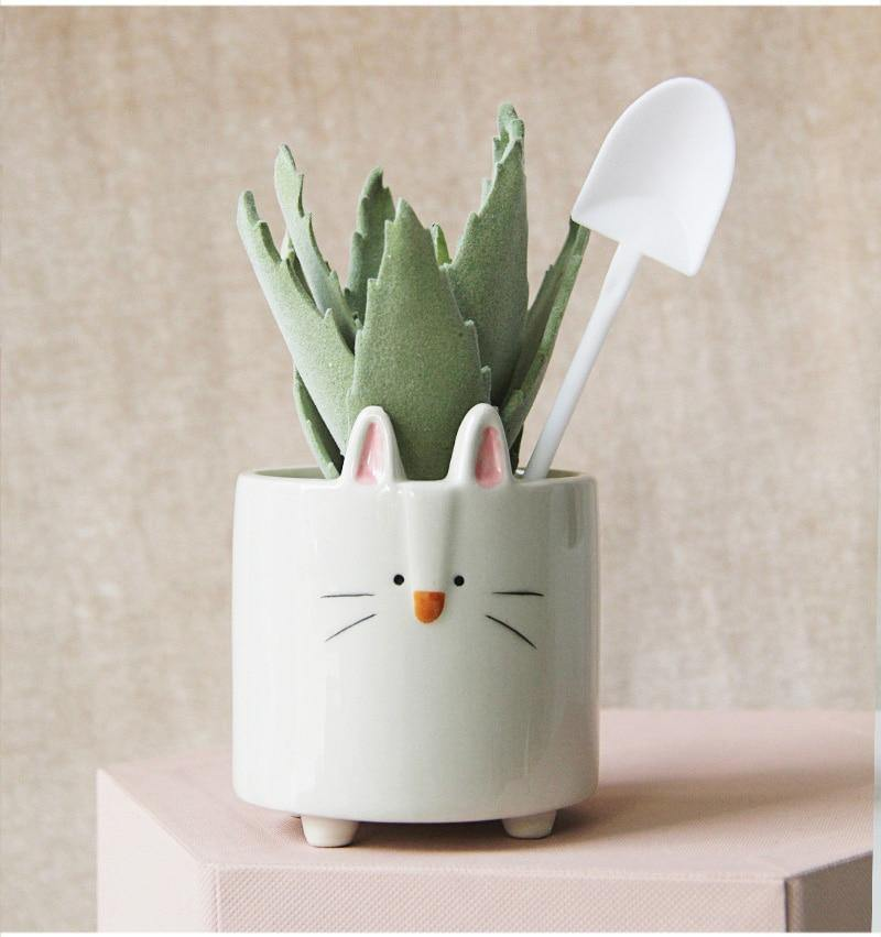 Cute Animal Ceramic Planters - Wyvern's Hoard