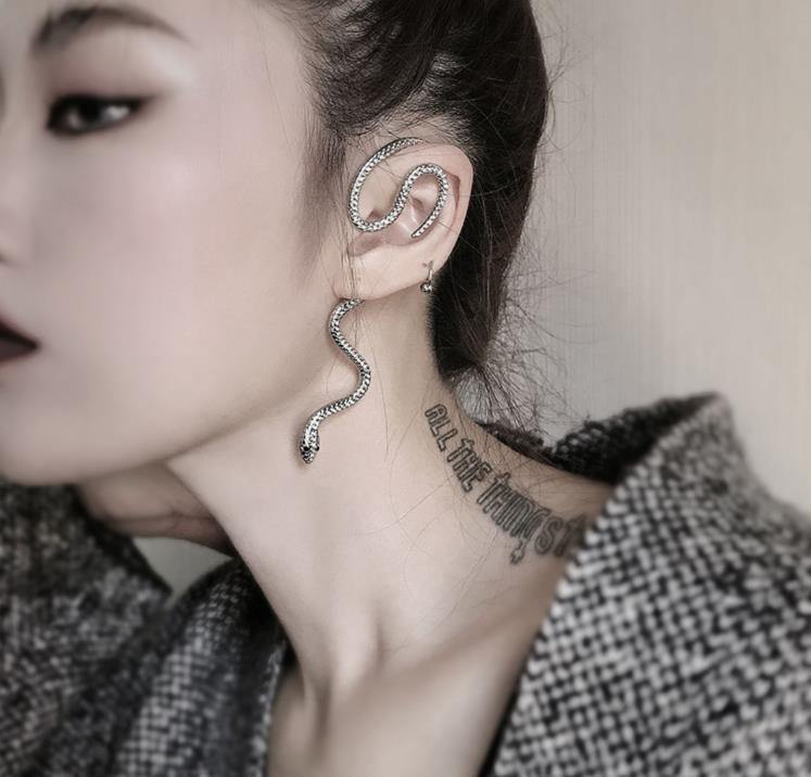 Slithering Snake Ear Cuffs - Wyvern's Hoard