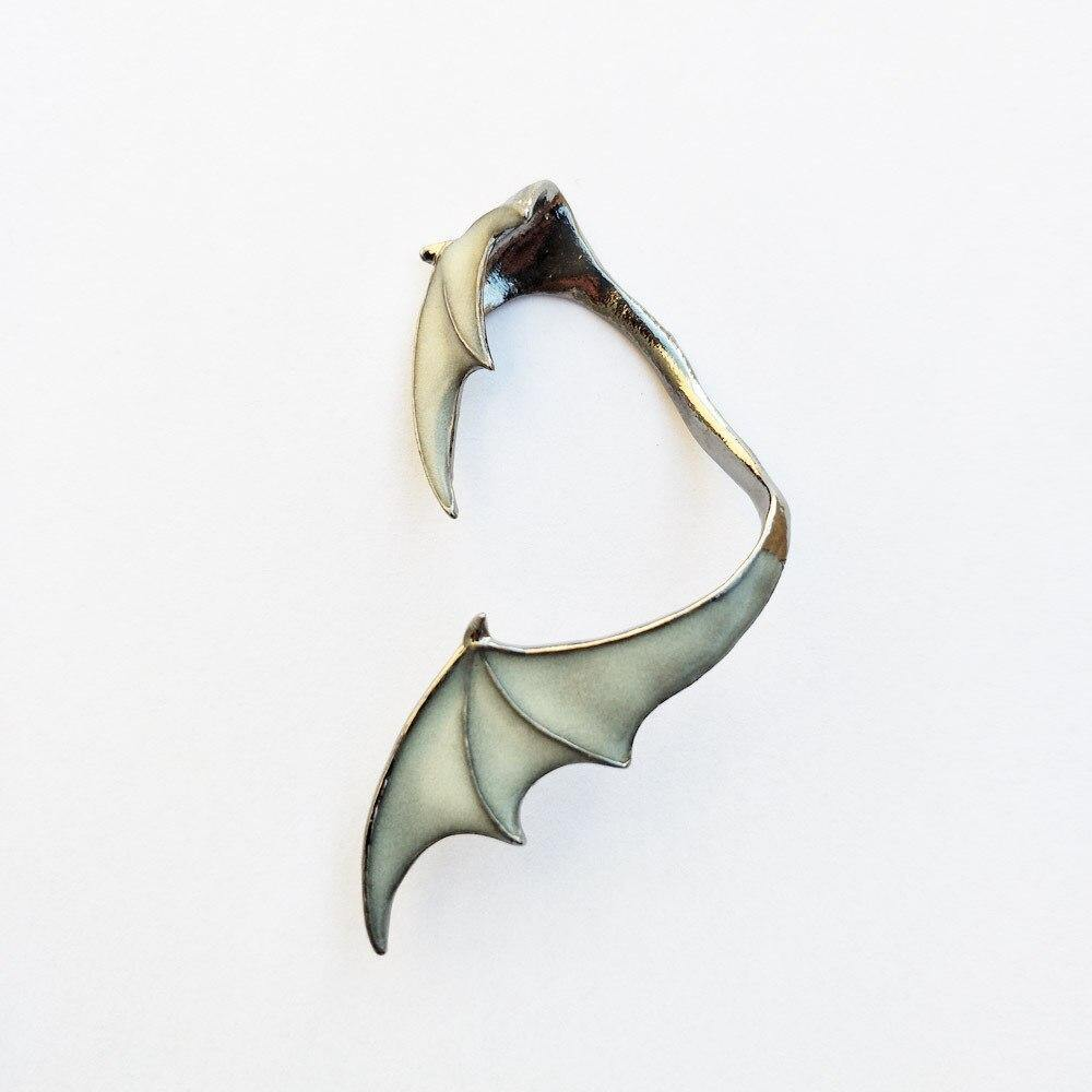 Glow In The Dark Dragon Wing Earring - Wyvern's Hoard