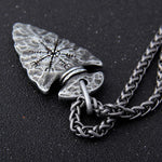 Aegishjalmr Helm of Awe Arrowhead Necklace - Wyvern's Hoard