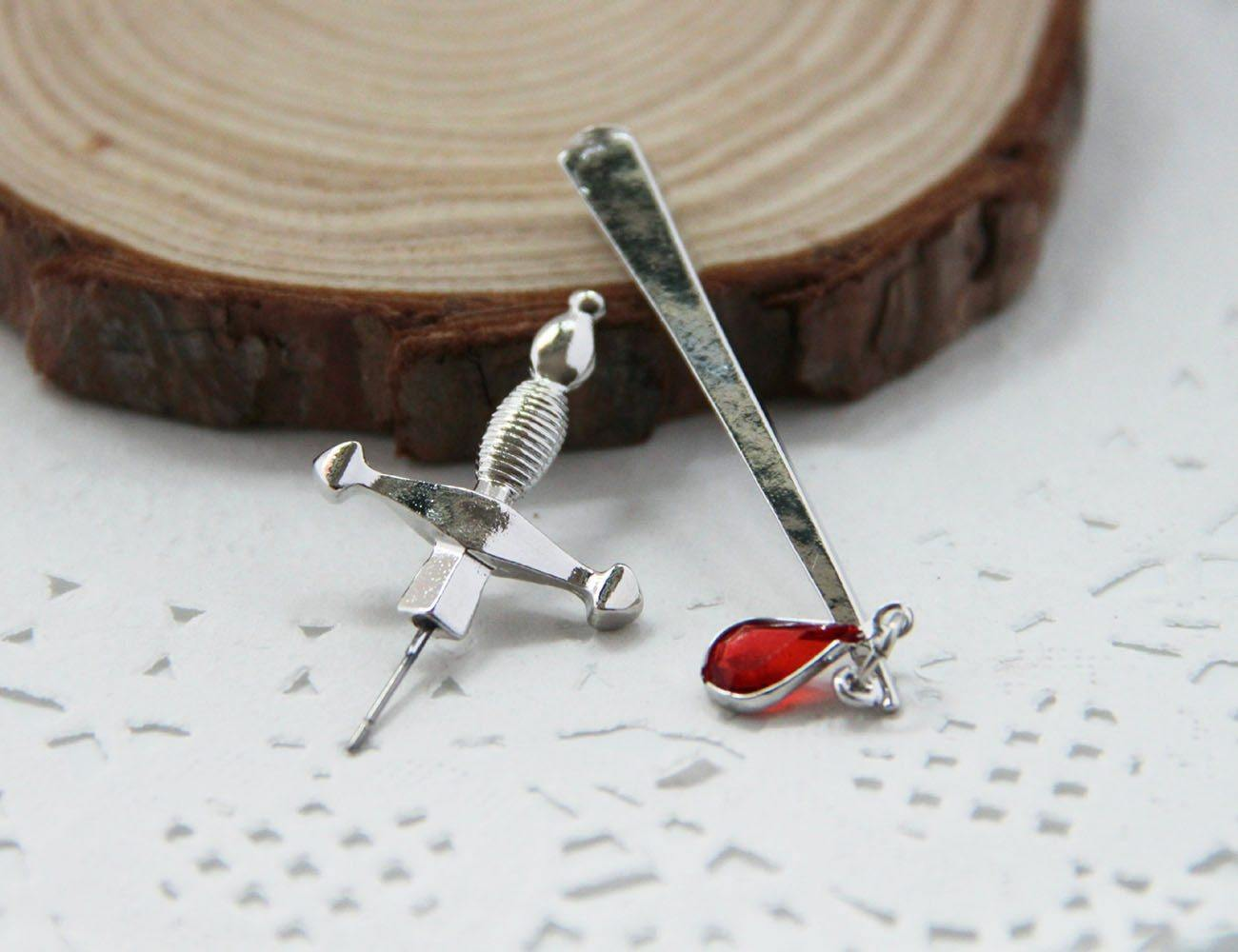 Blood Sworn Dagger Stud Earrings - Wyvern's Hoard