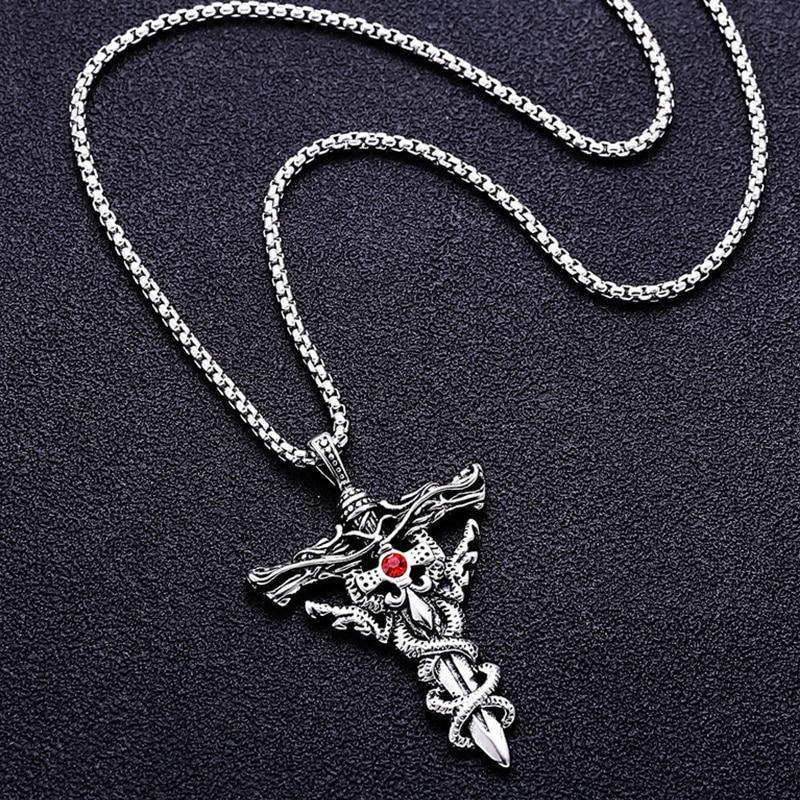 Double Dragon Sword Necklace