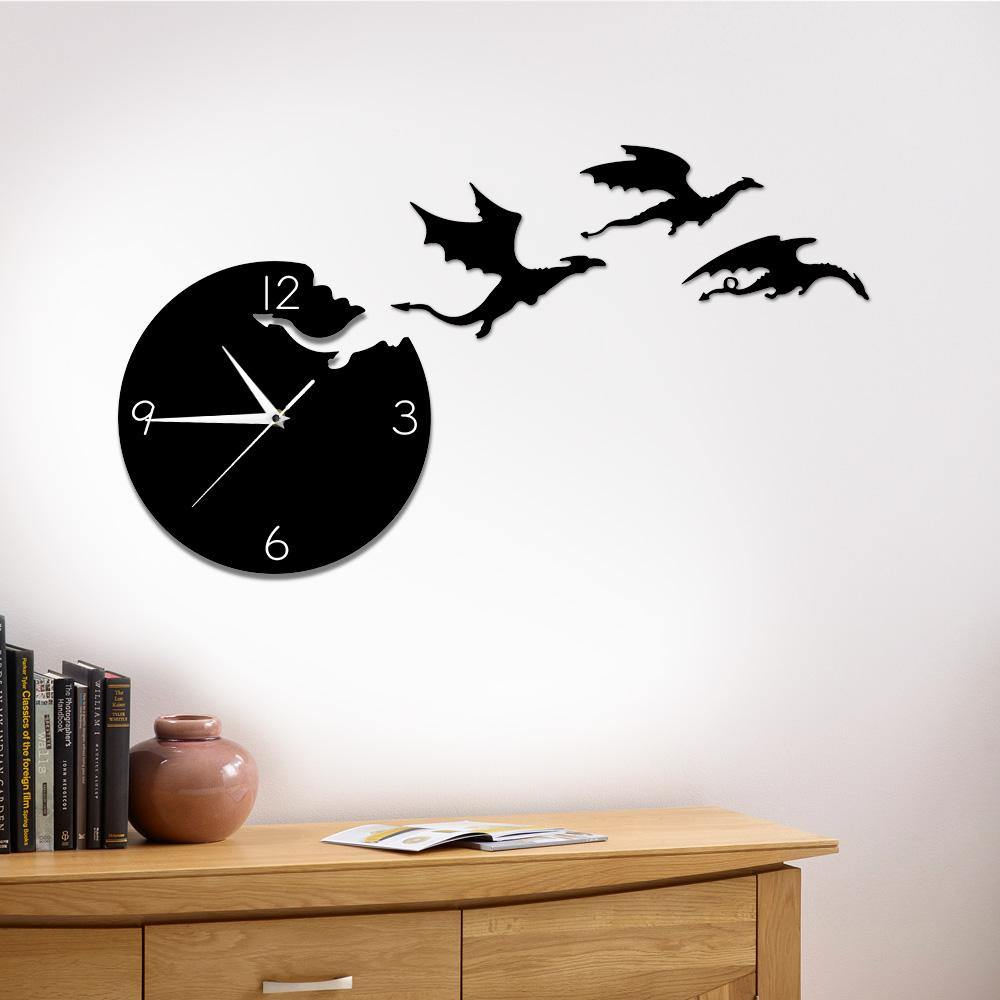 Dragon Flight Wall Clock - Wyvern's Hoard