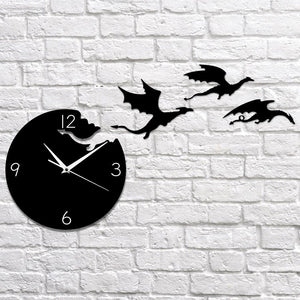 Dragon Flight Wall Clock