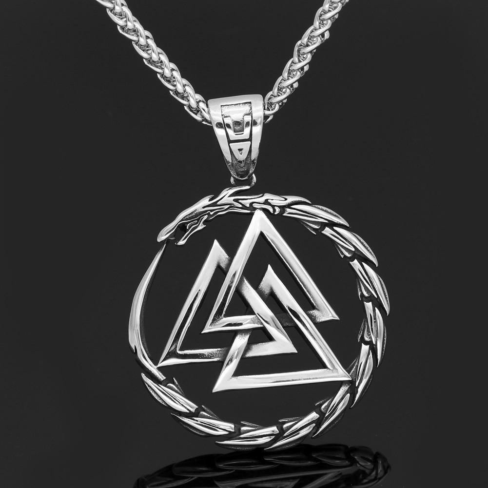 Jörmungandr And Valknut Necklace