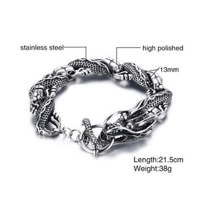 Dragon Link Stainless Steel Bracelet
