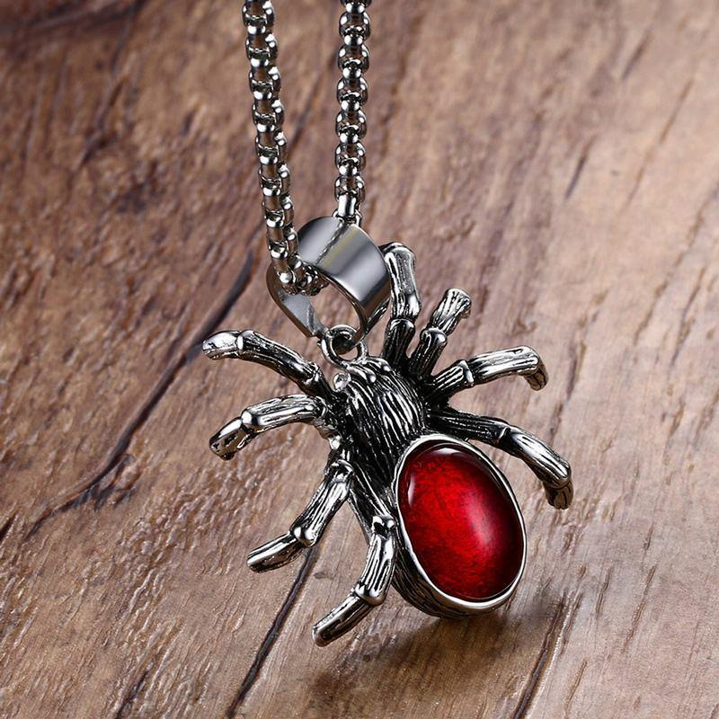 Stainless Steel Spider Necklace