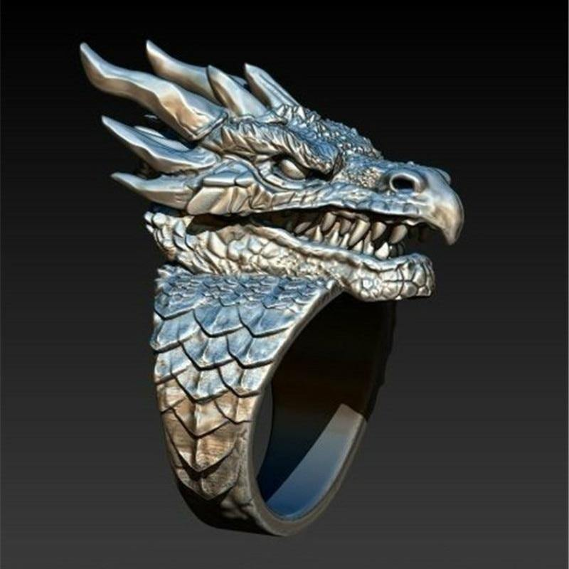 Dragon Head Ring - Wyvern's Hoard