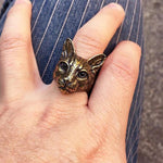 Cat Head Ring