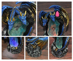 Crystal Cavern Dragon LED Backflow Incense Burner Nightlight - Wyvern's Hoard