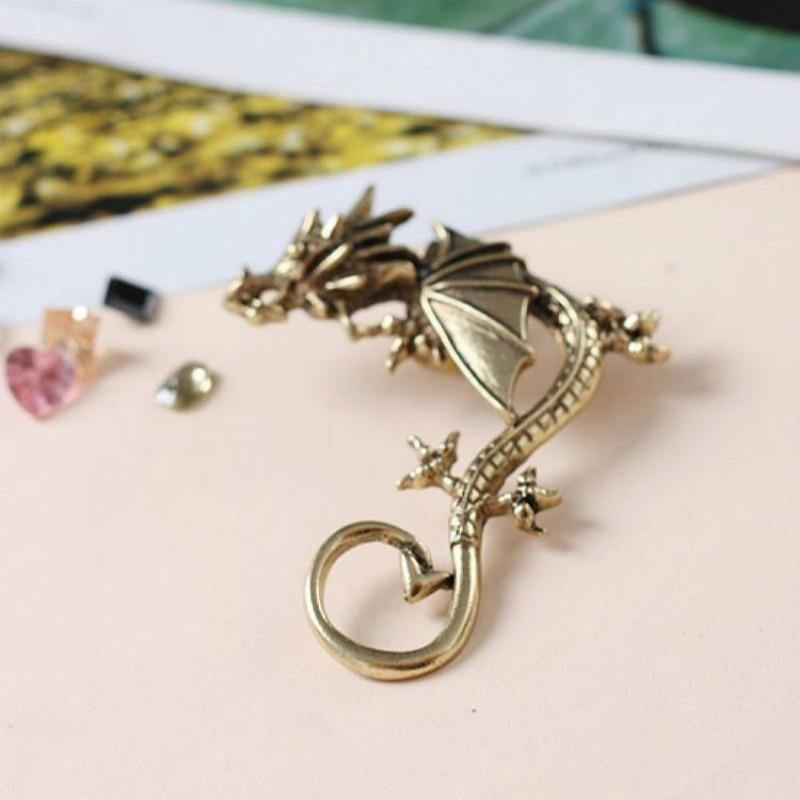 Perching Dragon Earcuff - Wyvern's Hoard