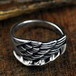 Angel Wing Sterling Silver Ring - Wyvern's Hoard