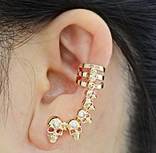 String Of Skulls Earrings