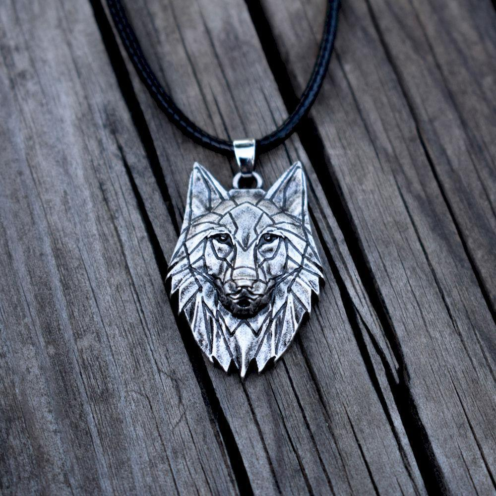 Rugged Wolf Necklace