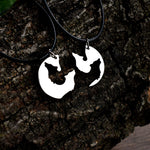 Howling Wolves Silhouette Couple Necklaces