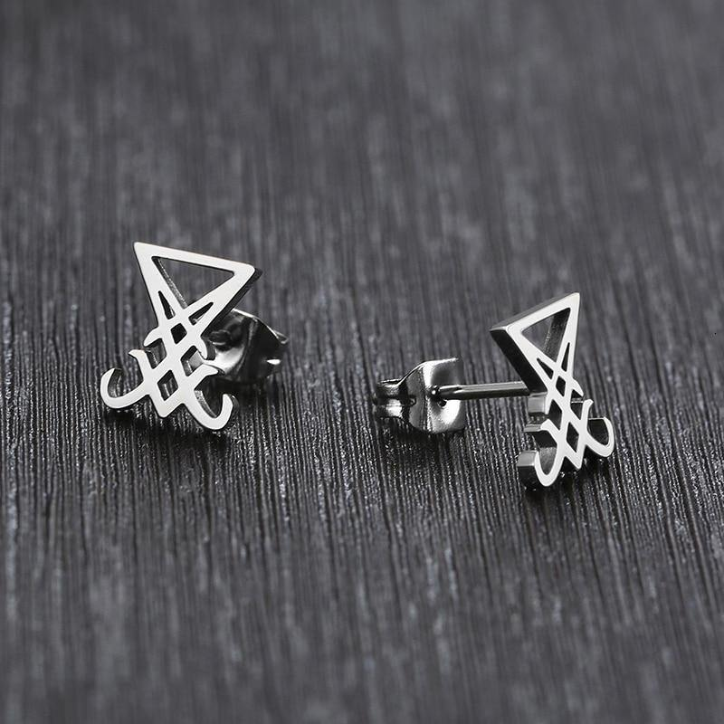 Sigil of Lucifer Ear Studs - Wyvern's Hoard