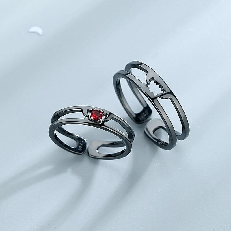 Dracula And Bride Couple Rings - Wyvern's Hoard