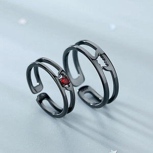 Dracula And Bride Couple Rings