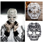 Diamante Iron Skull Face Mask
