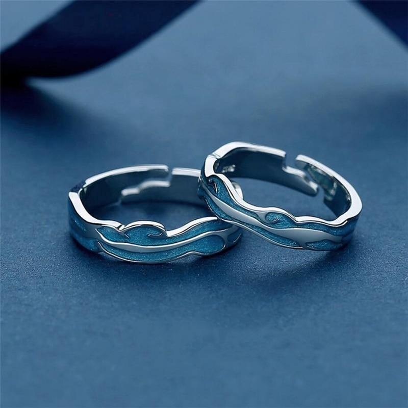 Across the Ocean Couple Rings - Wyvern's Hoard