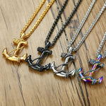 Steel Anchor Necklaces - Wyvern's Hoard