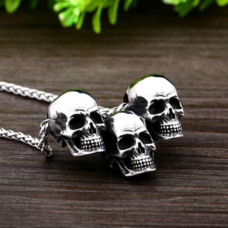 Skull Triad Necklace