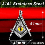 Masonic Eye Of Providence Necklace - Wyvern's Hoard