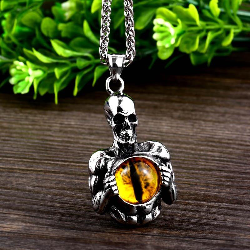 Inner Eye Skeleton Necklace - Wyvern's Hoard