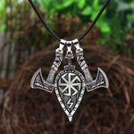 Viking Battle Axes And Shield Necklace - Wyvern's Hoard