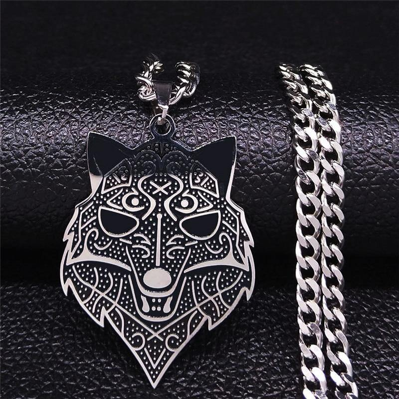 Viking Wolf Head Necklace - Wyvern's Hoard