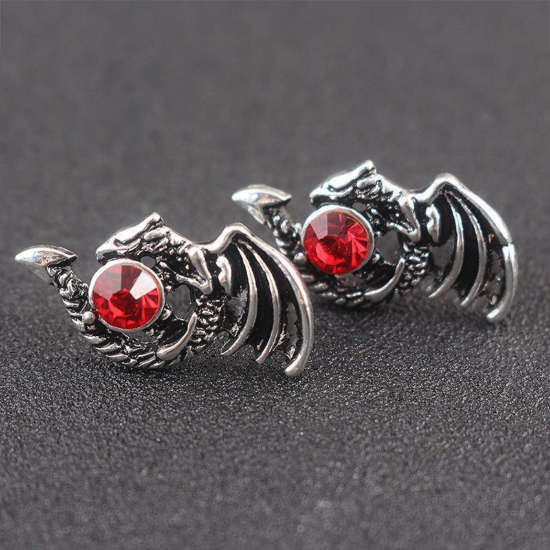 Draig Arian Dragon Earrings