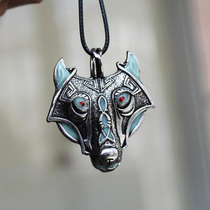 Glow In The Dark Fenrir Wolf Necklace