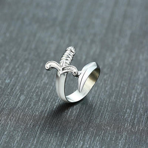 Steel Dagger Ring