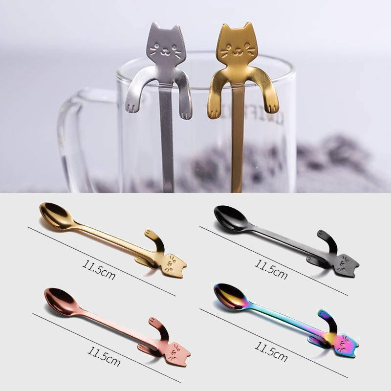 Relaxing Kitty Teaspoons (4 Pieces)