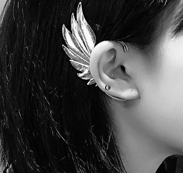 Angel Wings Ear Cuffs