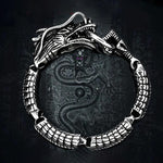 Dragon Stainless Steel Link Bracelet - Wyvern's Hoard