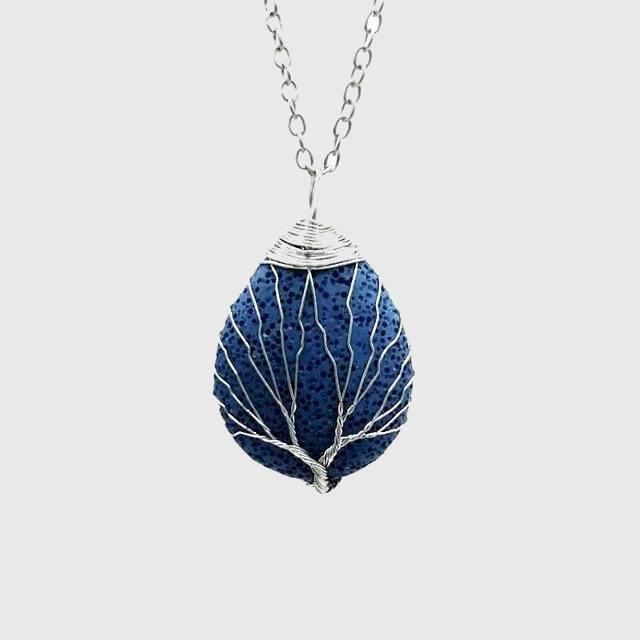Tree of Life Lava Rock Diffuser Necklace - Wyvern's Hoard