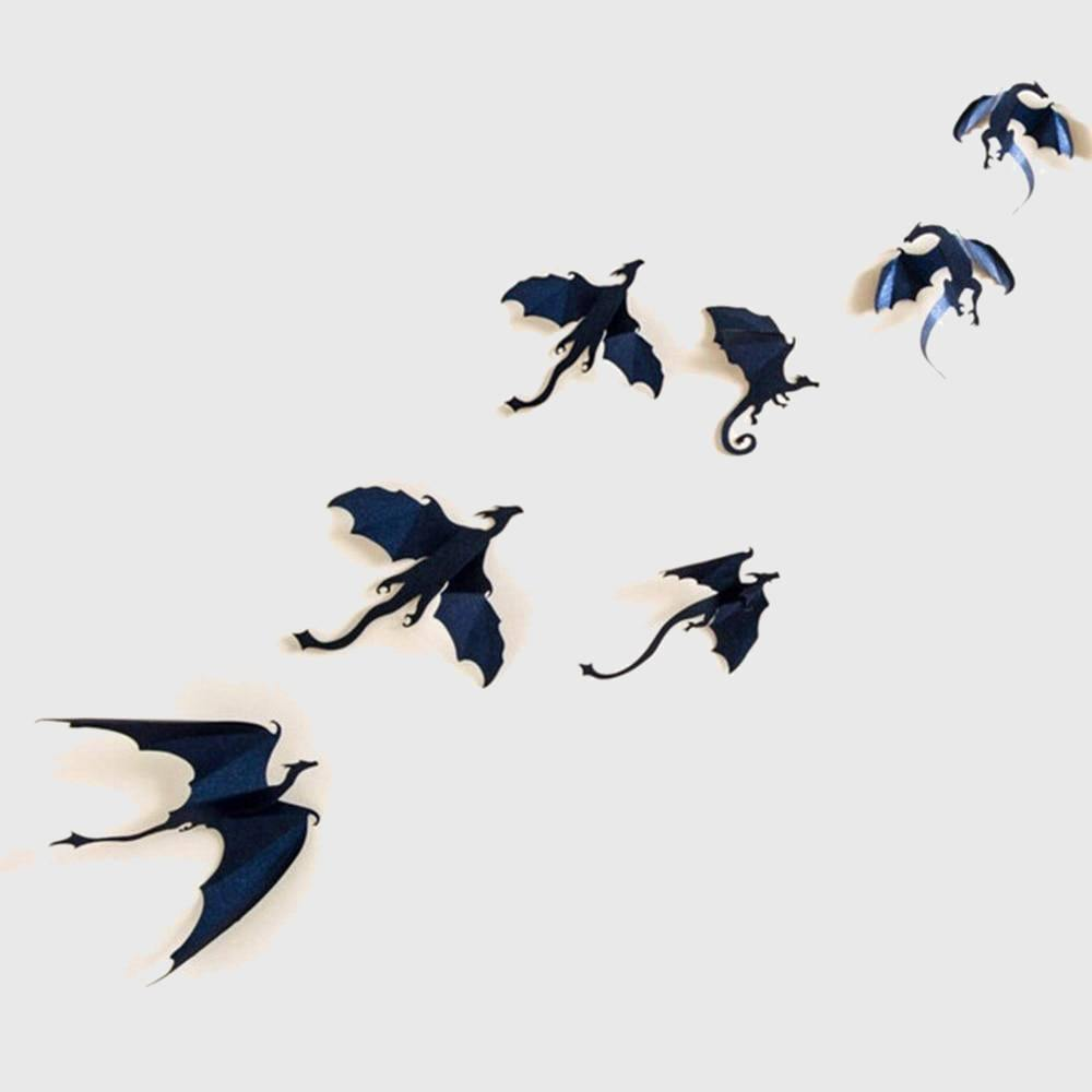 The Dragons' Flight Vinyl Wall Stickers (7 pieces)