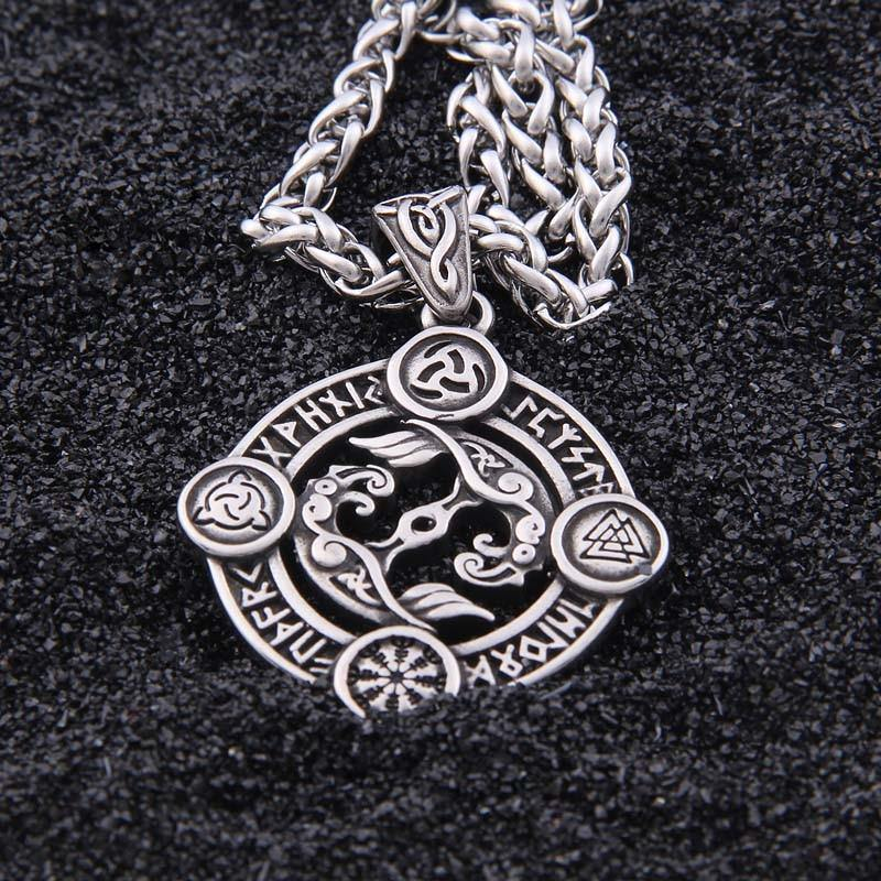 Huginn And Muninn Viking Raven Necklace